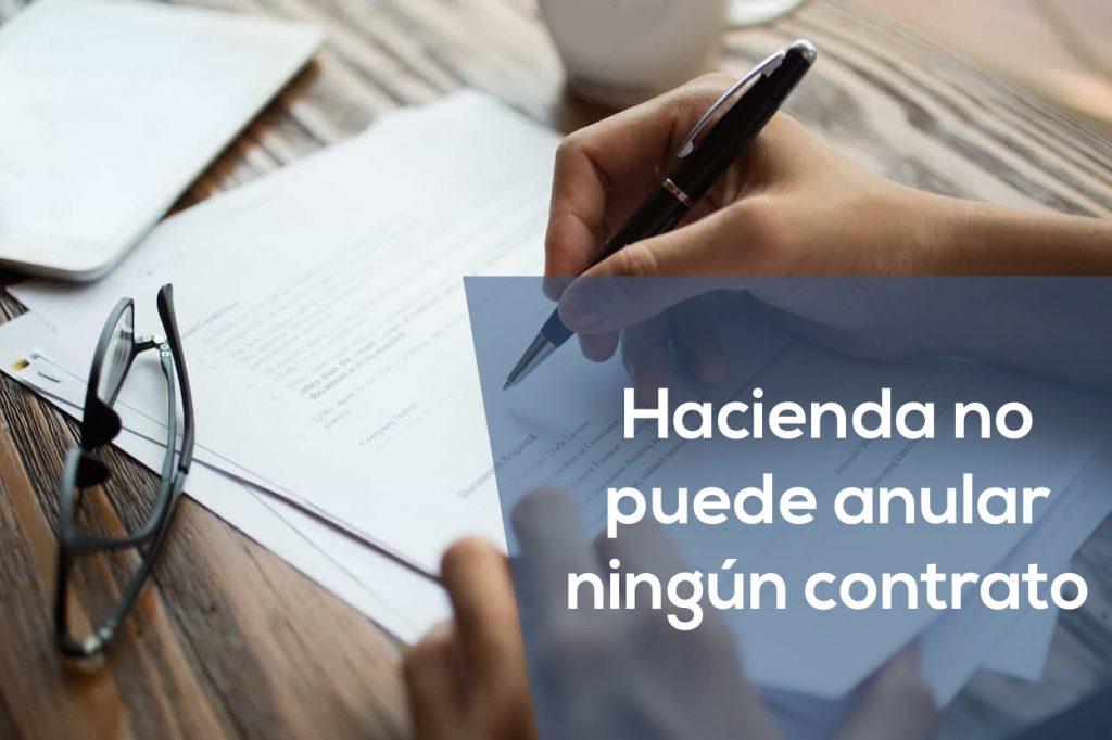 hacienda contrato