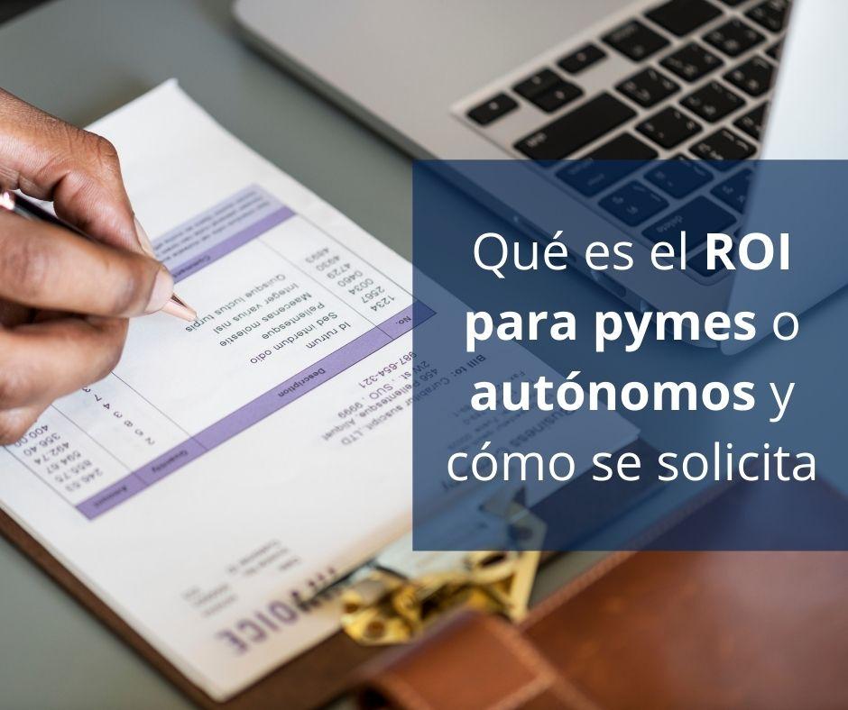Qué es el ROI para pymes o autónomos y cómo se solicita