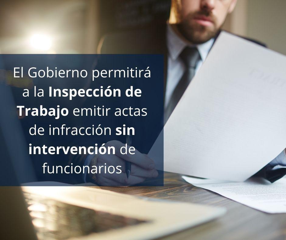 inspección de trabajo sin funcionarios